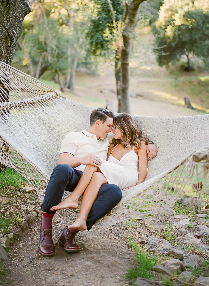couple in hammock engagement photos